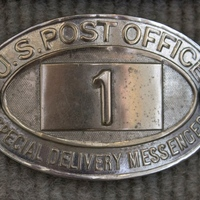 U.S. Post Office Mailman Badge