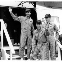 Apollo 13 Crew on the USS Iwo Jima After Recovery