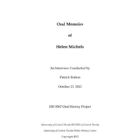 Oral History of Helen Michels