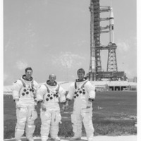 Skylab 2 Crew at Launch Pad 39B