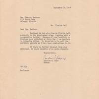 Letter from Carolyn S. Cope to Dorothy Barbour (September 19, 1979)