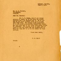 Letter from Joshua Coffin Chase to S. M. Crowell (June 5, 1930)