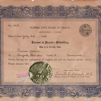 License to Practice Midwifery for Carrie Jones