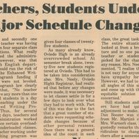 Teachers, Students Undergo Major Schedule Changes