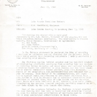 Memorandum from C. W. Sheffield to Lake Apopka Committee Members (June 17, 1968)