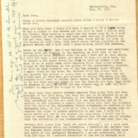 Letter from Myrtle Colson to John M. May (March 28, 1956)