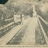 Wood Used For 1st Wekiva River Bridge