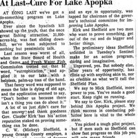 At Last—Cure for Lake Apopka