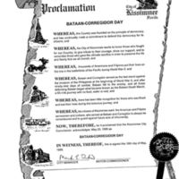 Proclamation of Bataan-Corregidor Day