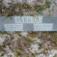 Headstone of Isaac Edward Parker at Viking Cemetery