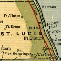 Map of St. Lucie County, 1907