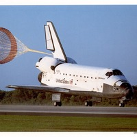 Landing of STS-56 Space Shuttle Discovery