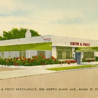 Edith & Fritz Restaurant Postcard