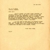 Letter from Joshua Coffin Chase to Sydney Octavius Chase (November 3, 1924)