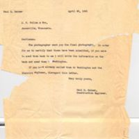 Letter from Paul H. Heimer to J. P. Cullen & Son (April 28, 1941)