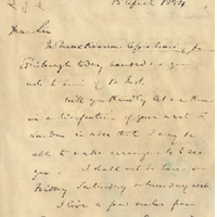 Letter from Edwyn S. Dawes to Jules Levita (April 15, 1884)
