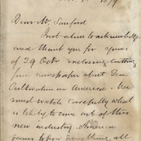 Letter from William MacKinnon to Henry Shelton Sanford (November 1, 1879)