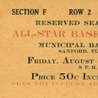 All-Star Baseball Game Ticket