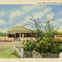 Law West of the Pecos Postcard
