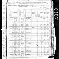 Tenth Census Population for Otter Creek Township, Virgo County, Indiana, 1880