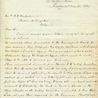 Letter from A. W. Macfarlane to Henry Shelton Sanford (December 29, 1884)