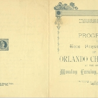 Programme of the First Concert of the Orlando Choral Union