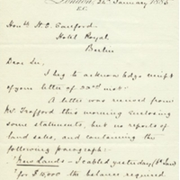 Letter from A. W. Macfarlane to Henry Shelton Sanford (January 24, 1885)