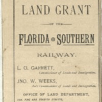 Map of Florida Showing the Land Grant of the Florida South Railway