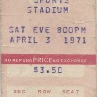 Edgar Winter Ticket Stub