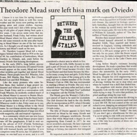 Between the Celery Stalks: Theodore Mead Sure Left His Mark on Oviedo