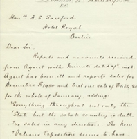 Letter from A. W. Macfarlane to Henry Shelton Sanford (February 21, 1885)
