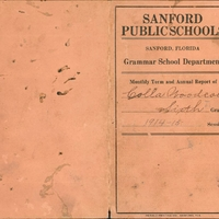 Westside Grammar Elementary School Report Card for Colla Woodcock, 1914-1915