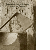 Execution Block and Axe, Tower of London Postcard