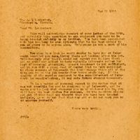 Letter from Joshua Coffin Chase to A. Q. Lancaster (March 31, 1923)