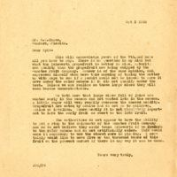 Letter from Joshua Coffin Chase to Sydney Octavius Chase (October 3, 1924)