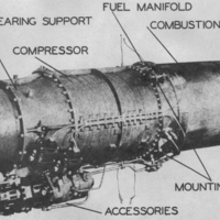 Westinghouse Electric W19XB-2B Jet Engine
