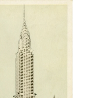 Chrysler Building Postcard
