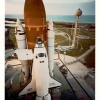 Space Shuttle Discovery on Launch Pad 39A