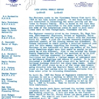 Lake Apopka Restoration Project Weekly Report (April 22 to 26, 1968)