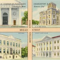 Corner of Four Laws Postcard