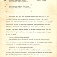 Memorandum from Assistant Postmaster General to Postmasters with Gross Receipts of $1 million to $20 Million (December 7, 1954)