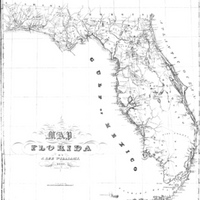 Map of Florida, 1837