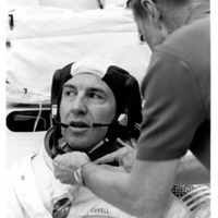 Astronaut Jim Lovell During Spacesuit Testing