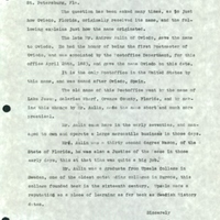 Letter from Steen Nelson to Annie Tes Rae (July 20, 1938)