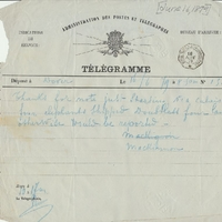 Telegram from William MacKinnon to Henry Shelton Sanford (June 16, 1879)