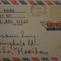 Envelope to Texann Ivy (October 1967)
