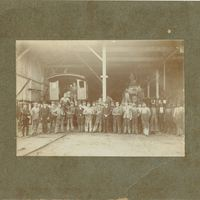 Atlantic Coast Line Workers at Sanford Railyard