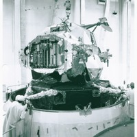 Mating Lunar Module 1 to Spacecraft Lunar Module Adapter in Manned Spacecraft Operations Building