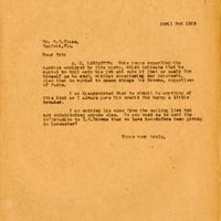 Letter from Joshua Coffin Chase to Sydney Octavius Chase (April 2, 1926)
