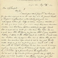 Letter from William Beardall to Henry Shelton Sanford (August 4, 1883)